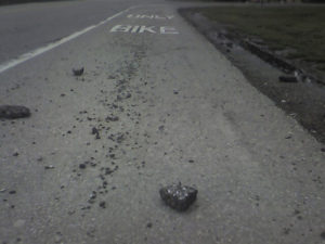bike lane debris