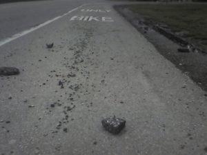 bike lane debris